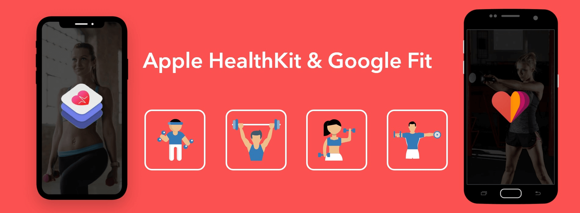 Healthcare and Fitness Apps using HealthKit and Google Fit