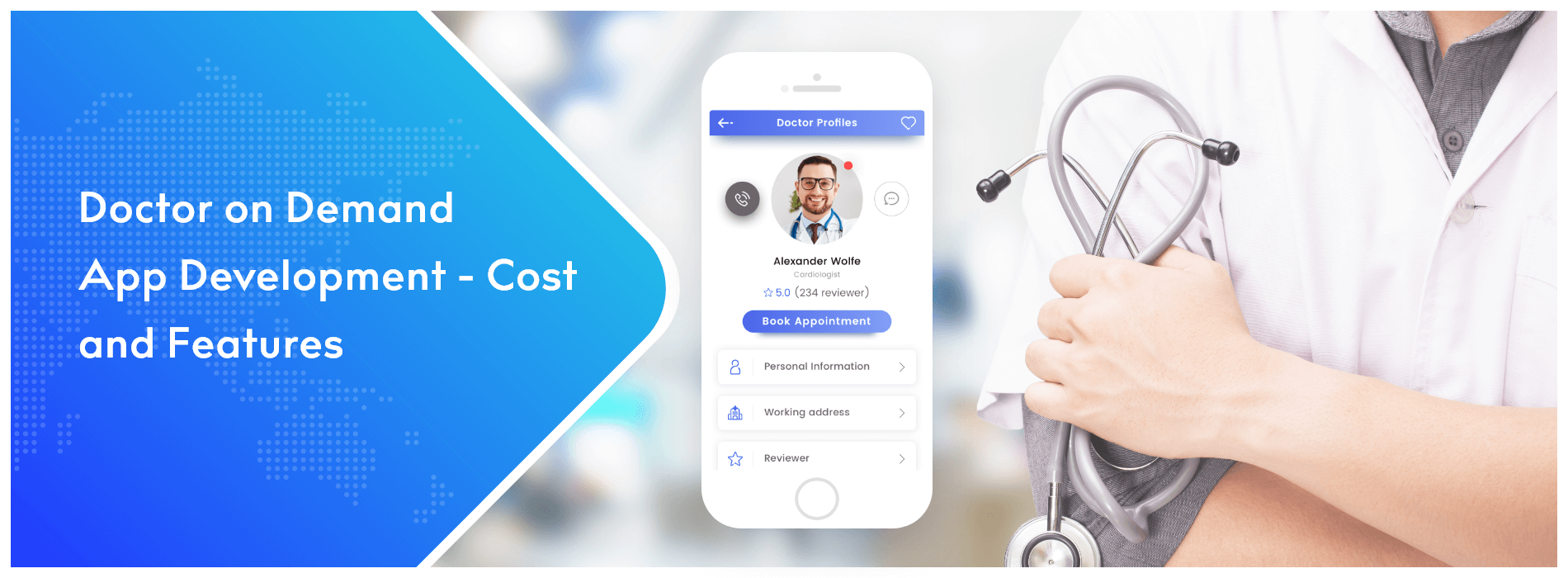 On-demand doctor app - cost & key features
