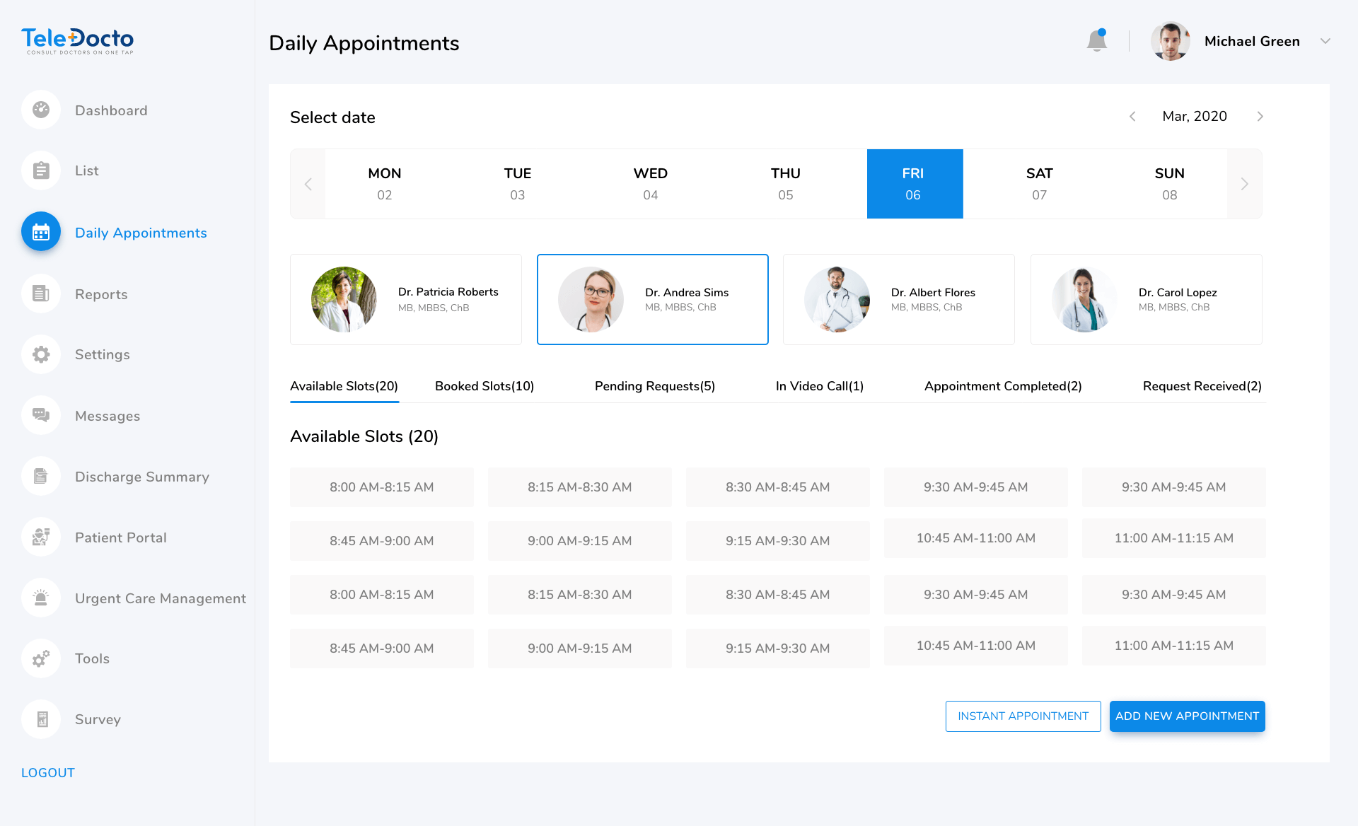 appointment-booking-clinic-panel